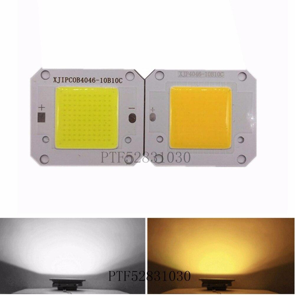 12V COB 50W 400-840NM/ Warm white /Cool white LED chip High Power LED Chip Grow light For Solar battery or car Power work 10pcs