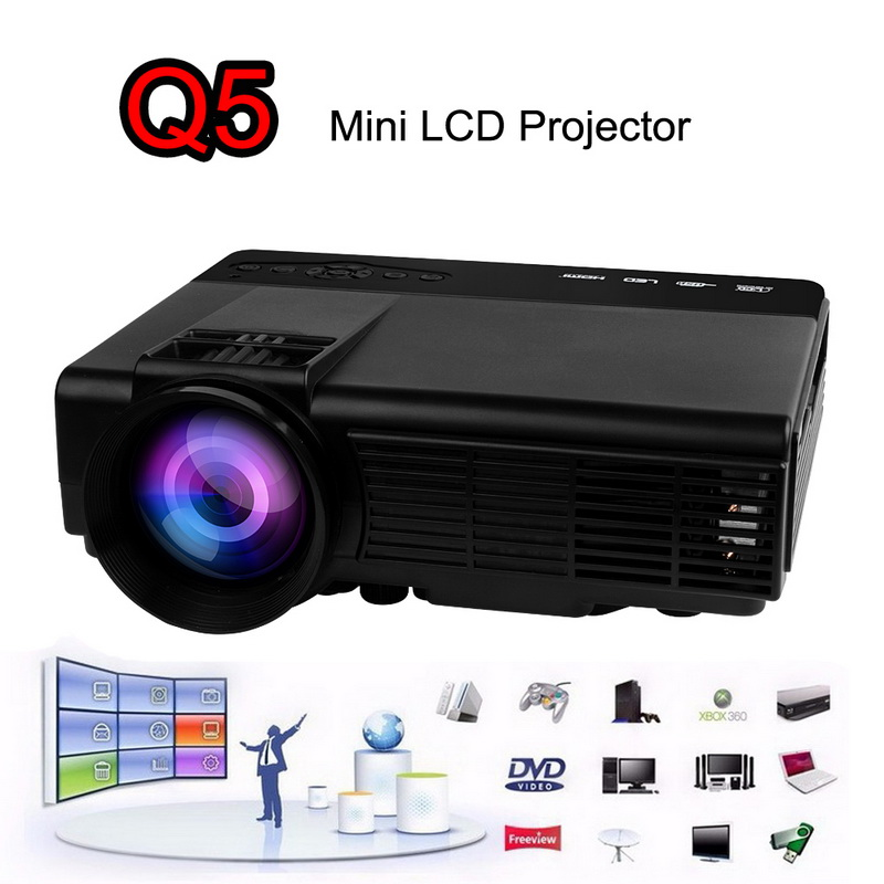 Newest home theater projector 1200lumens usb hd hdmi 3d for Best portable hdmi projector