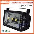 Boa Venda 50Wx4 Atômica 200 W Flash Strobe Iluminação COB COB LED Igual a 1500 W Strobe DJ Bar Luz