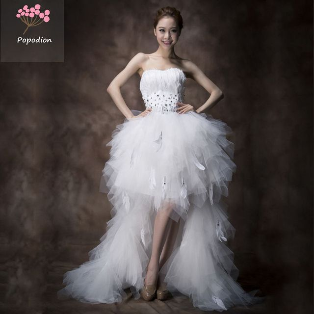 country western wedding dresses white feather wedding dress plus ...
