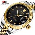 Лучший Бренд Класса Люкс Автоматические Часы Мужчины Механические Часы Светящиеся Спорта Случайные Часы Relogio Masculino Automatico TEVISE