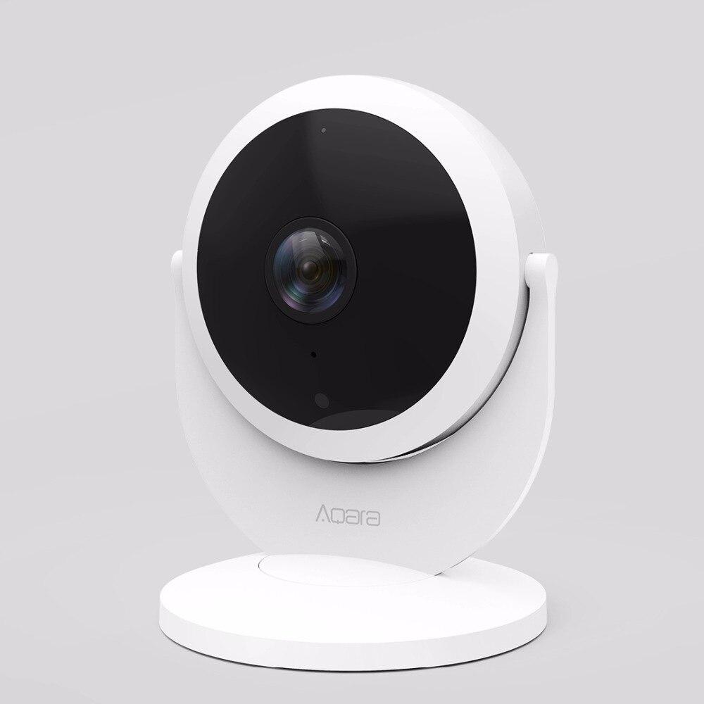 Xiao mi mi jia Aqara caméra IP intelligente avec fonction de moyeu de passerelle 1080 P HD alarme de liaison 180 degrés FOV mi Interphone vocal intelligent à domicile