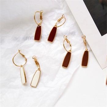 Geometry retro circle pendant earrings jewelry fashion woman earrings Statement earring for Girls gift for woman 1