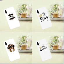 Fashion High Quality King Queen Phone Case  For iphone 5 5 5s SE 6 6S XR XS MAX 7 7PLUS X 8 8PLUS hard plastic shell стоимость