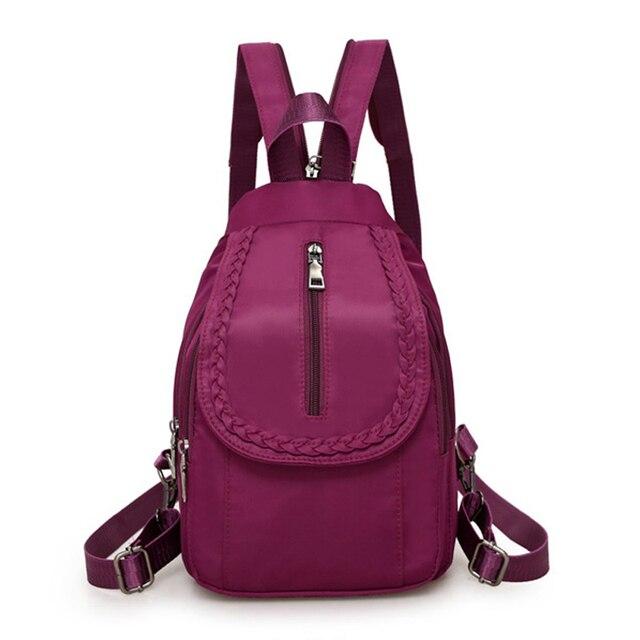 262ce65f3 2018 New Women Backpacks Nylon Crossbody Shoulder Bags Multifunctional  Casual Female Small Travel Bag Rucksacks Back