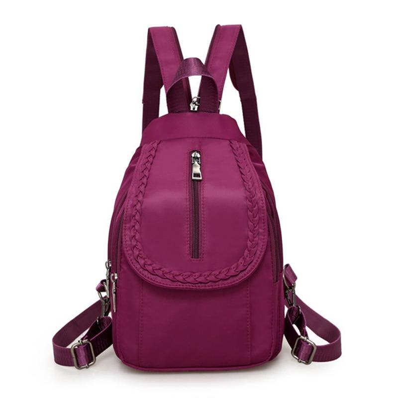 New 2020 Women Backpacks Nylon Crossbody Shoulder Bags Multifunctional Casual Female Small Travel Bag Rucksacks Back Pack