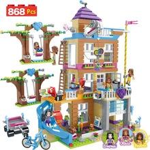 868 шт. строительные блоки девушки дружба дом модель укладки кирпичей Совместимость LegoING девушки Друзья Детские игрушечные фигурки подарок GB08