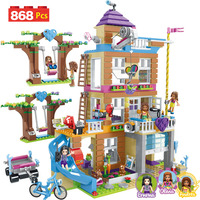 868pcs Building Blocks Girls Friendship House Model Stacking Bricks Compatible LegoING Girls Friends Figures Kids Toys Gift GB08