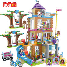 868pcs Building Blocks Girls Friendship House Model Stacking Bricks Compatible LegoING Girls Friends Figures Kids Toys Gift GB08(China)