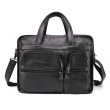 Business Men Genuine Leather Briefcases Bag Computer Bags Messenger Laptop Handbag Tote Vintage Crossbody for