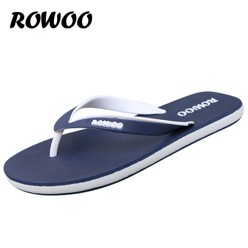 <font><b>Summer</b></font> <font><b>Fashion</b></font> <font><b>Men</b></font> Flip Flop <font><b>Outdoor</b></font> Male <font><b>Sandals</b></font> Shoes High Quality Flat Anti-skidding Slide Casual Slippers Plus size 46 image