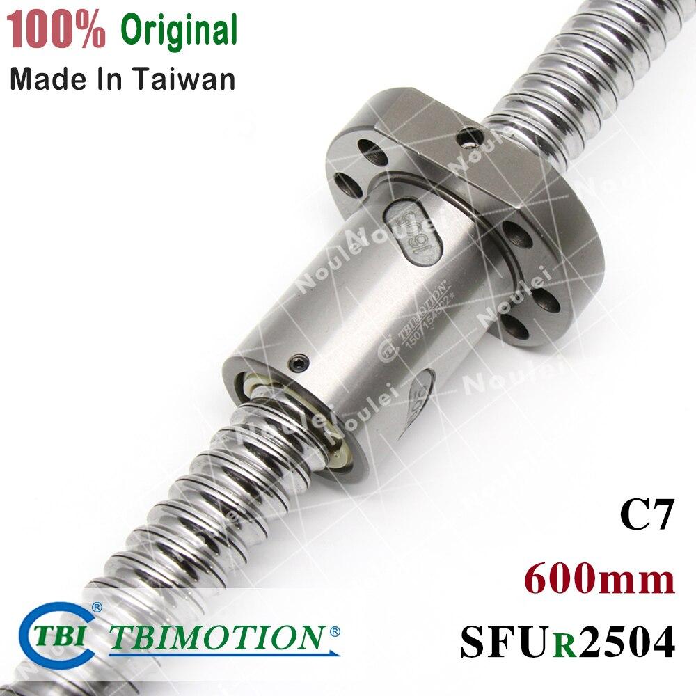 TBI Rolled ballscrew 600mm SFUR 2504 C7 4mm lead with SFU2505 Ball nut for cnc kitTBI Rolled ballscrew 600mm SFUR 2504 C7 4mm lead with SFU2505 Ball nut for cnc kit