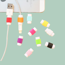 10 Pieces 1 Lot Cable Protector Wire Cover For iPhone Samsung Charger Line Protective Sleeve D2 Cartoon Cables Saver