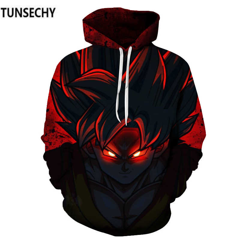 TUNSECHY Marke Dragon Ball 3D Hoodie Sweatshirts Männer Frauen Hoodie Dragon Ball Z Anime Mode Lässig Trainingsanzüge Boy Kapuzen
