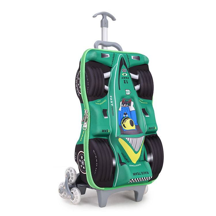 2017 Removable Children Schoolbag With 3 Wheels Stairs Kids Princess Trolley School Pack Luggage Book Bags Wheeled Backpack Abs