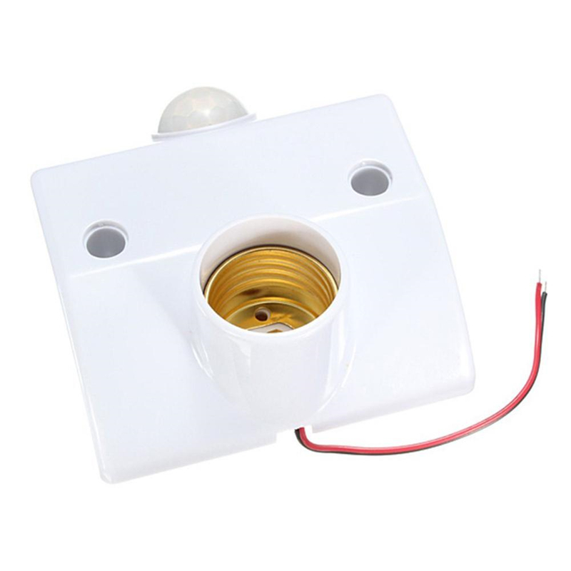 1pcs E27 PIR Motion Sensor LED Lamp Base Holder AC 180-240V With Infrared Induction Light Contral Bulb Socket Delay Off Holder pir motion sensor lamp holder 180 240v