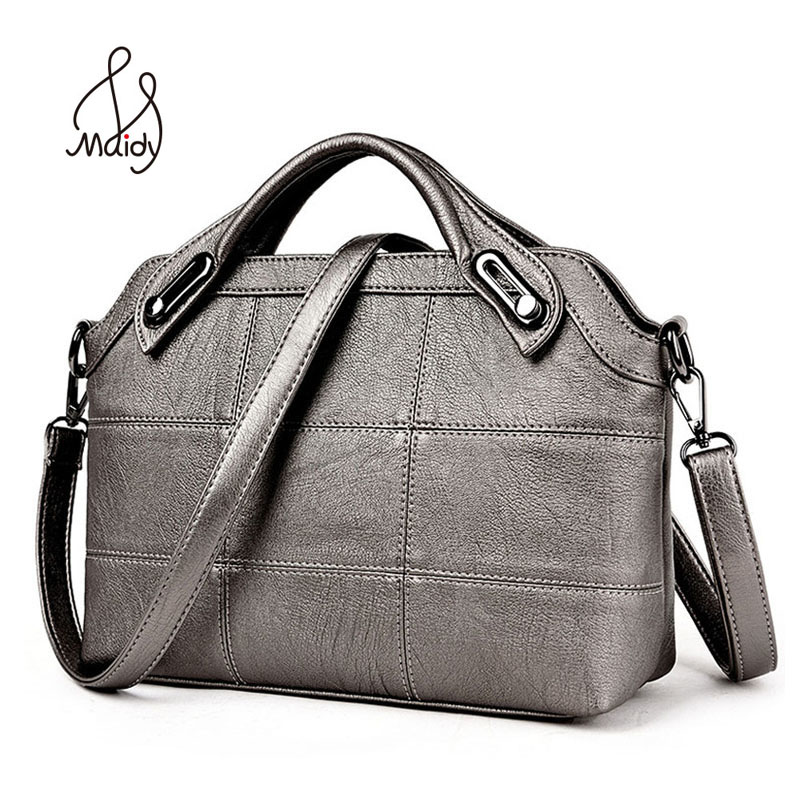 Vintage Fashion Women Women s Business Leather Bag Quilted Handbag Pochette Crossbody Bags Large Shoulder Diamond