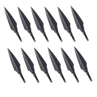 12 Pcs Set Screw In Broadheads 100 Grain Traditional Hunting Arrow Head For DIY Flying Arrow
