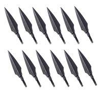 12 Pcs Set Screw In Broadheads 100 Grain Traditional Hunting Arrow Head For DIY Flying Arrow