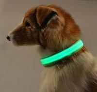 USB Rechargeable Adjustable Flashing Safety Nylon LED Dog Collar Pet Neck Belt