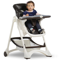 כיסא אוכל לתינוק כיסא פלסטיק מתכת מתקפל, מתכוונן כיסא גבוה כיסא תינוק בוסטרים נייד Cadeira Infantil, Cadeira ParaBebe