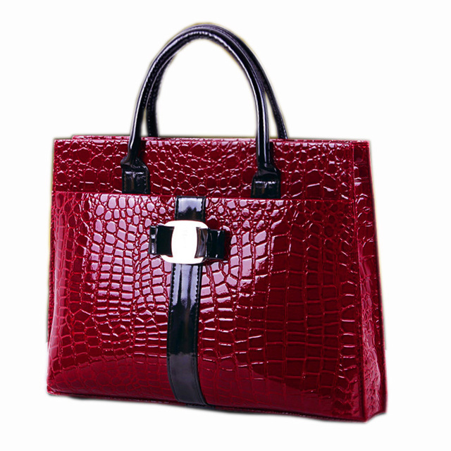Tethys Crocodile Logo Pattern Leather Woman Handbag High Quality Messenger Bag Ladies Sac Main Female Bags Metal  Womens' Pouch