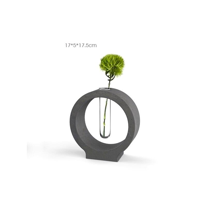 Beton behälter Form rohr vase beton halter form zement basis mold Einfache hause büro zement form-in Lehm-Formen aus Heim und Garten bei  Gruppe 3