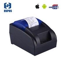 Дешевые Bluetooth термопринтер 58 мм Android, IOS POS чековый принтер нет необходимости лента, картриджи для кассовый аппарат печати
