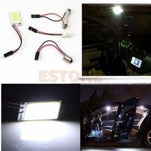 цена на T10 BA9S 3W COB 18-LED White Interior Light Panel Festoon Dome Car Bulb Lamp