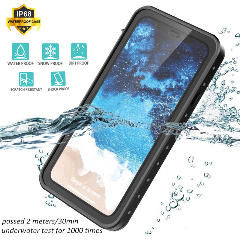For iPhone XR XS Max X Case IP68 Waterproof Duty Protection Diving Shockproof Cover Swimming for iPhone 7 8 plus Case Underwater