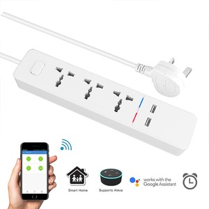 Image 3 - Wifi smart Power Strip with Universal 3 Socket 2 USB Charging Station Work with Alexa Google Home Assistant UK/AU/EU/India Plugs