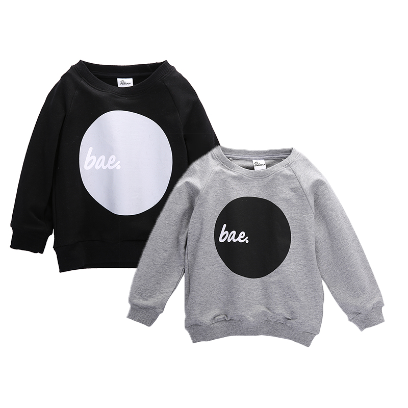 Bae Baby Boy Girls Kids Long Sleeve LETTERS Shirt Tops Sweatshirts Winter Autumn Clothes Casual Girls Clothes Sport Boys Shirts