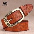 Pin hebilla de correa de cuero genuina pantalones vaqueros de la correa decoración femenina de la correa del todo-fósforo breves vendimia de las mujeres