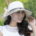 Sunbonnet veil women's sunscreen anti-uv large brim sun hat folding sun-shading strawhat