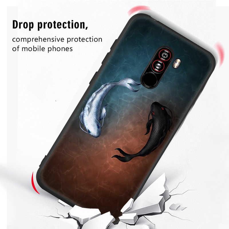 Cute Cartoon wzór etui na telefon z silikonu tpu dla Xiao mi czerwony mi uwaga 5 Pro 6A 5A 5 Plus mi 8 SE A2 Lite A1 Pocophone F1 6X 5X okładka