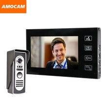 7″ Touch Monitor Video door phone Intercom Doorbell System Aluminium alloy night vision camera visual intercom video interphone