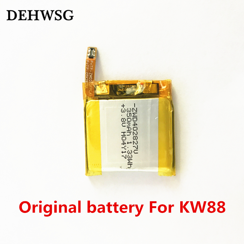 100% Original KW88 Battery 350mAh high quality battery For KW88 KW99 Smart watch replacement 3.8v charging clock watch battery цена 2017
