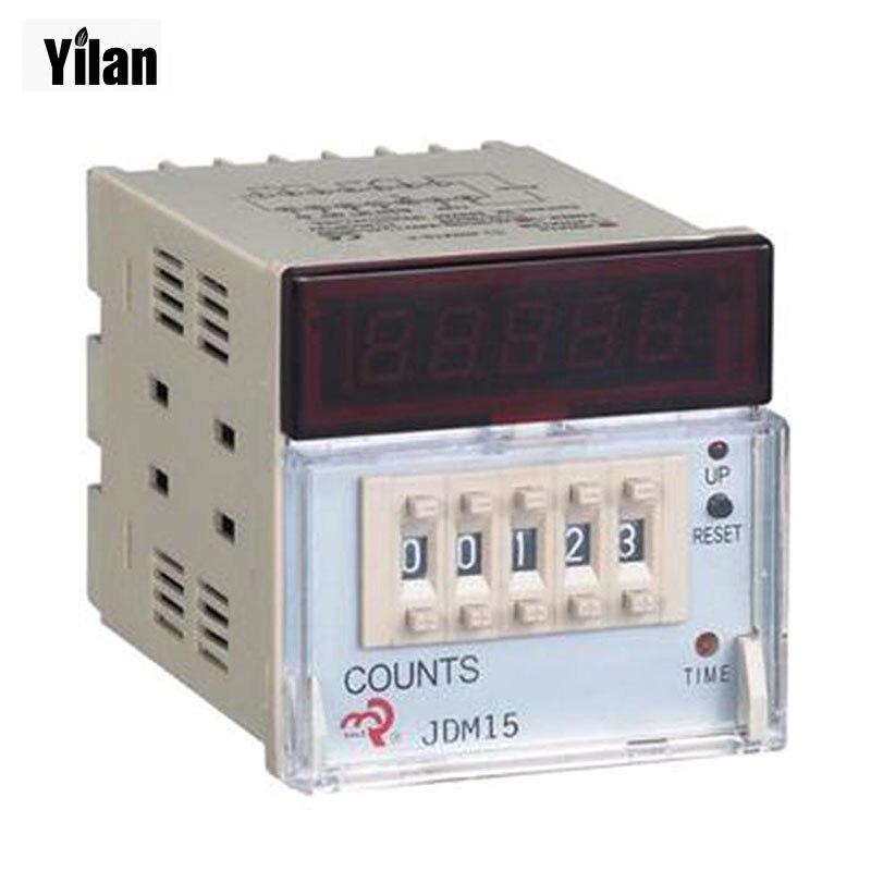 Preset Counter Contacts Photoelectric Counter Punch Counter JDM15 AC/DC 24V 36V 110V 220V 380V /50HZ cg8 digital counter ac 110 220v