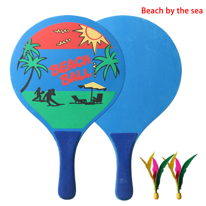 Board Badminton Racket Beach Racket Seven Layers Of High-grade Poplar Wood Creative Table Tennis Racket