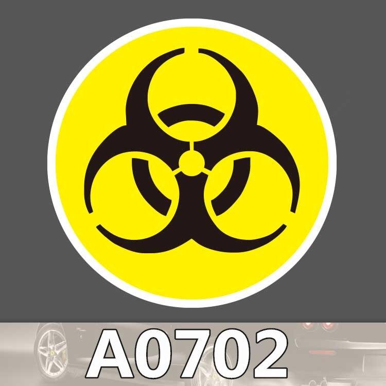 Bevle A0702 Biological Safety Mark Waterproof Sticker Single Sale Cool Laptop Luggage Fridge Phone Graffiti Notebook Stickers
