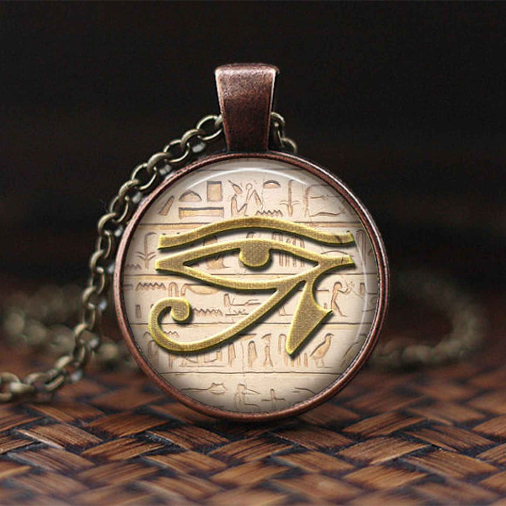 Gothic อียิปต์ Lord Of The Underworld Anubis สร้อยคอจี้ Vintage ผู้หญิงแฟชั่นเครื่องประดับของขวัญ Silver Chain แก้ว Cabochon