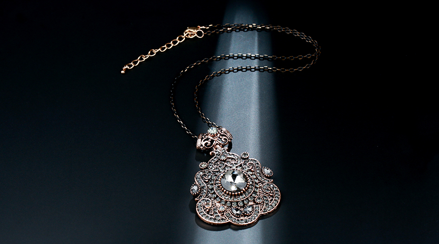 HTB1z7qXacfrK1Rjy1Xdq6yemFXaP - Kinel Bohemia Ethnic Necklace For Women Antique Gold Gray Crystal Statement Pendant Necklace Vintage Jewelry New Style