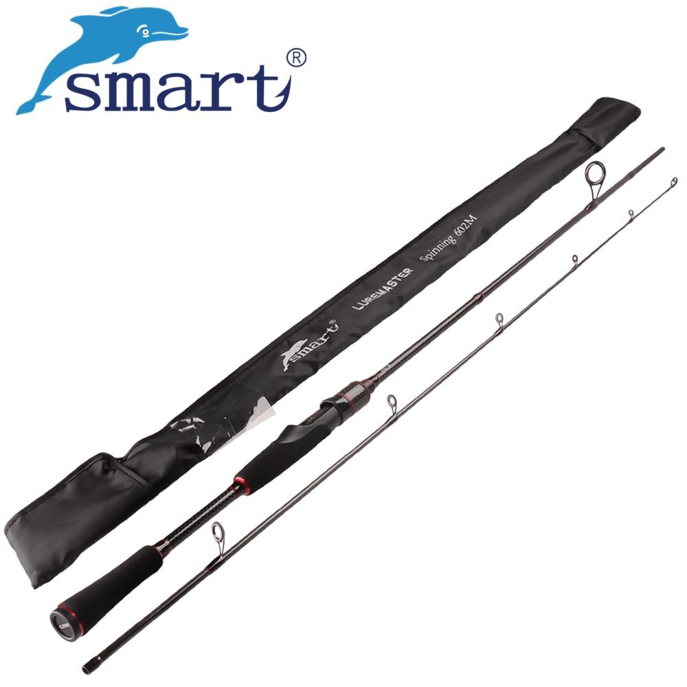 Smart 2,4 m Spinning Angelrute M Power Vara De Pescar Carbono Reise Spinning Rod Canne EINE Peche Locken Gewicht 7-25g Angelruten