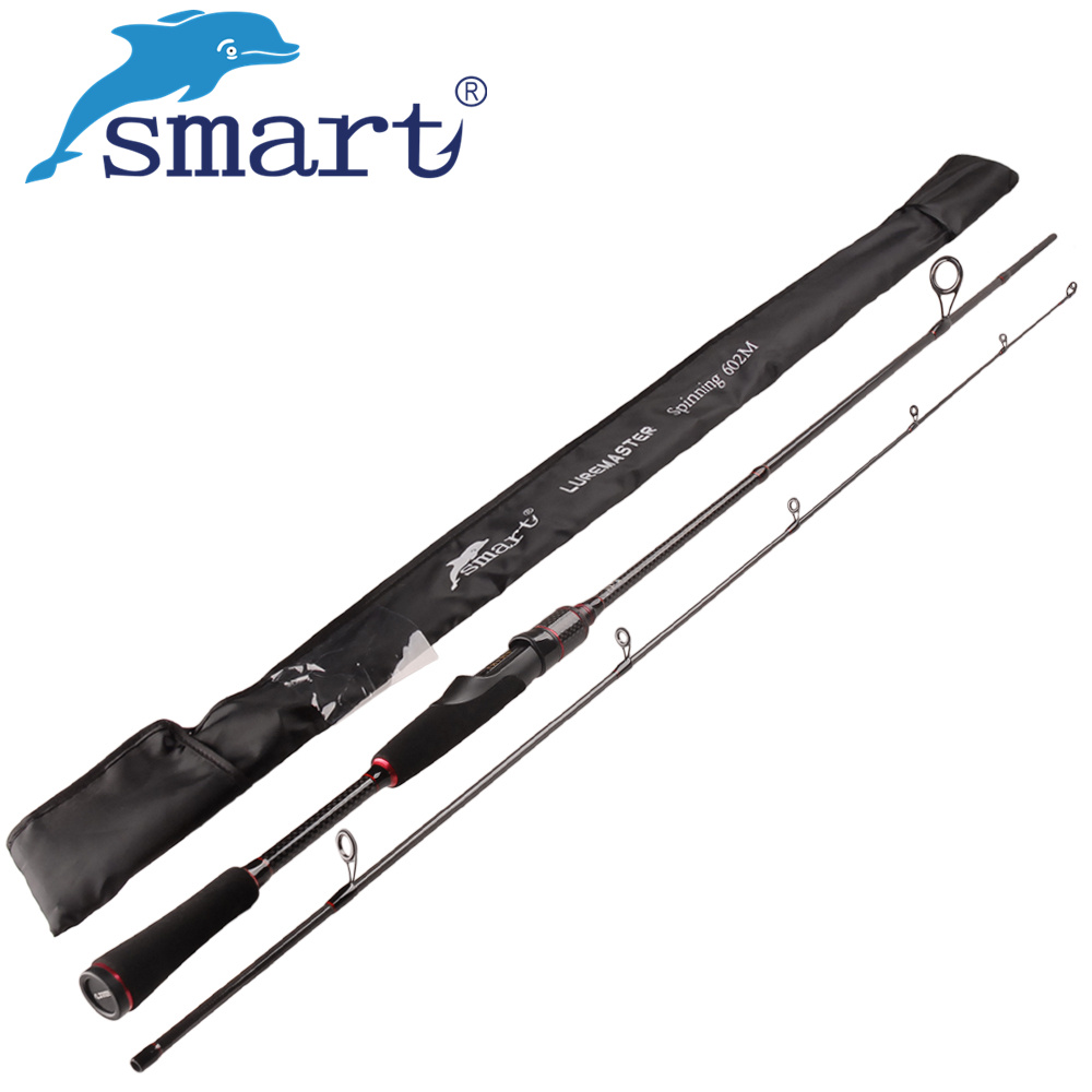 Smart 2.4m Spinning Fishing Rod M Power Vara De Pescar Carbono Travel Spinning Rod Canne A Peche Lure Weight 7-25g Fishing Rods smart 2 4m spinning fishing rod m power vara de pescar carbono travel spinning rod canne a peche lure weight 7 25g fishing rods