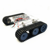 Acrylic tank robot chassis DC9 12V tracked vehicle DIY arduino kit