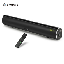 Arvicka 60W Bluetooth TV Soundbar with Subwoofer, Stereo Surround  Home Theater 2.1 Soundbar Bass Speaker for TV,Computer,PC