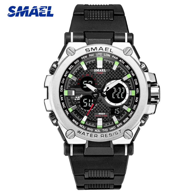 SMAEL 2019 Men Watches Military Sports Watch Men Chronograph Waterproof Silicone Army Watch Male S Shock Clock Relogio Masculino