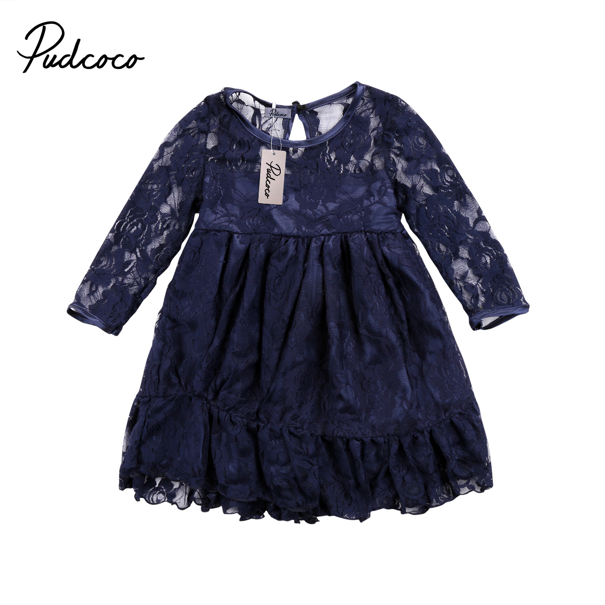 Fashion Kids Baby Girls Bowknot Princess Dress Party Formal Wedding Lace Tutu Dresses Vetidos Long Sleeve Clothing Outfits long criss cross open back formal party dress