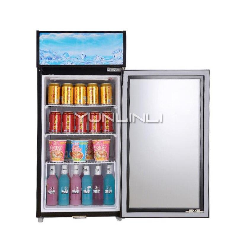 Refrigerator Glass Single Door With Lock Supermarket Refrigerator Cabinet Beverage Cabinet Energy-saving Refrigerator SC-75D