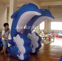 cool advertising inflatable replica Dolphin for Marine Museum Event or Promotion